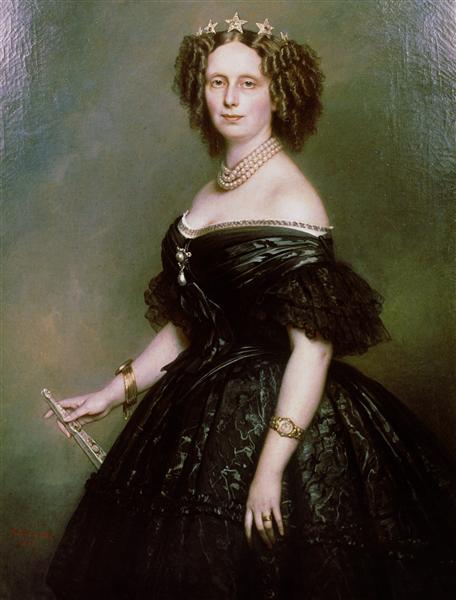 Portrait of Queen Sophie of Netherlands, born Sophie of Württemberg, 1863 - Franz Xaver Winterhalter