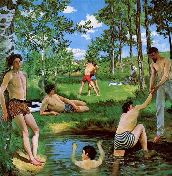 Bathers (Summer Scene), 1869 - Frederic Bazille