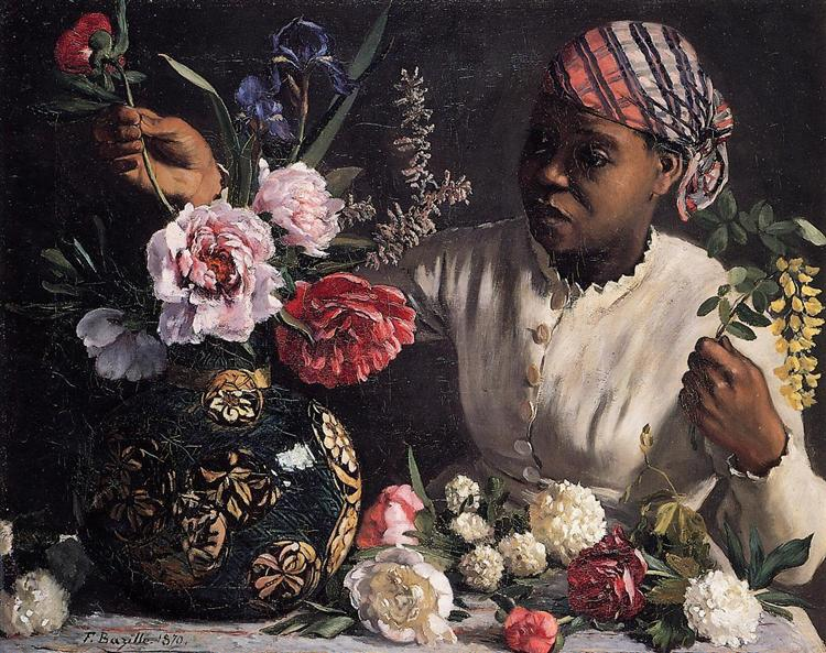Negress with Peonies, 1870 - Frederic Bazille