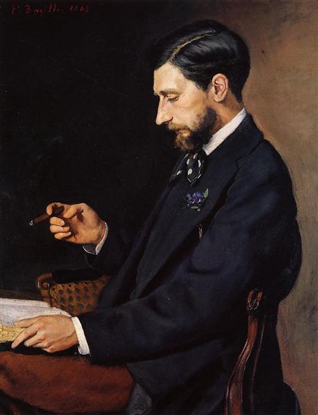 Portrait of Edmond Maitre, 1869 - Frederic Bazille