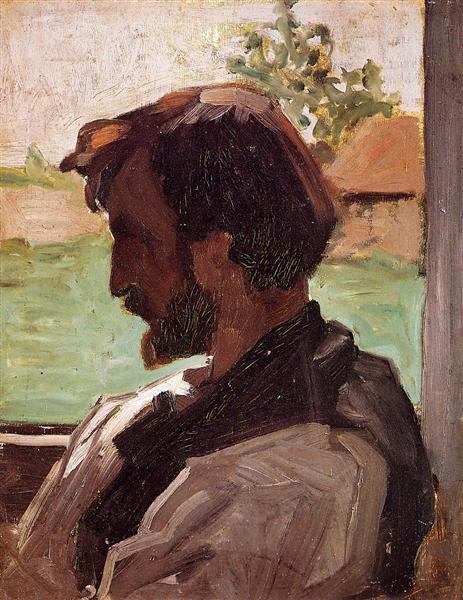 Self-Portrait at Saint-Saveur, 1868 - Frederic Bazille