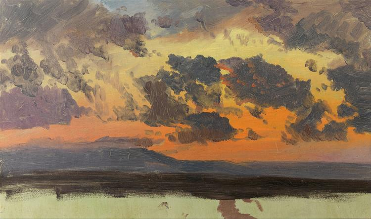 Sky at sunset, Jamaica, West Indies, 1865 - Frederic Edwin Church