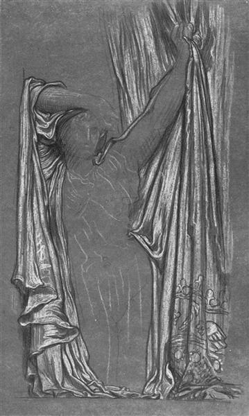 Drapery. Study for The Last Watch of Hero. - Frederic Leighton