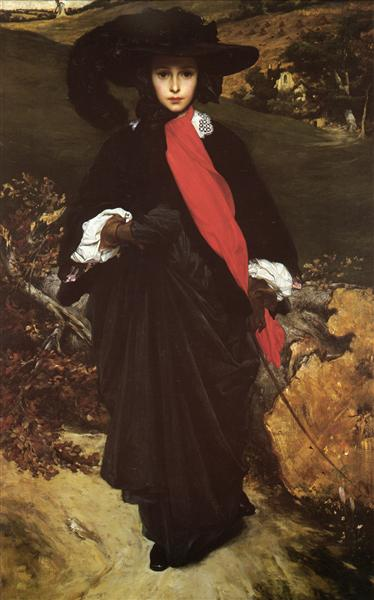 Portrait of May Sartoris, c.1860 - Frederic Leighton