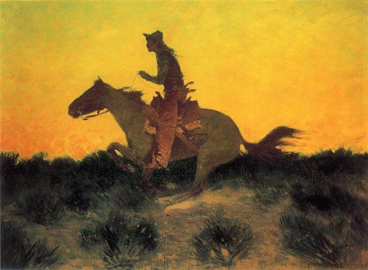 Against the Sunset, 1906 - Frederic Remington