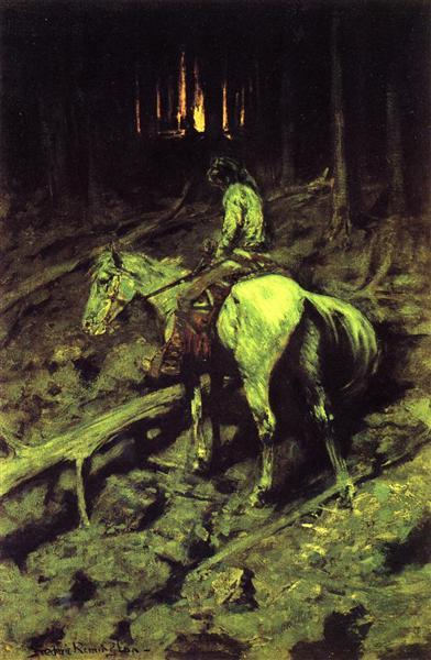 Apache Fire Signal, 1891 - Frederic Remington