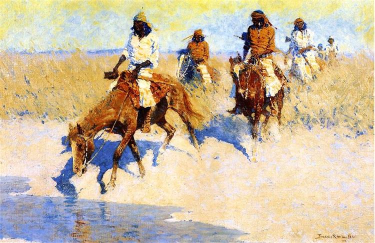 Pool in the Desert, 1907 - Frederic Remington
