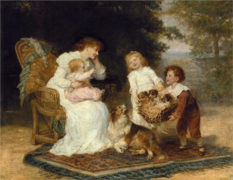 The Little Strangers, 1899 - Frederick Morgan