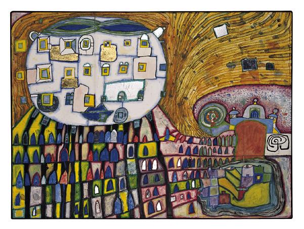 906 Domestic Cat – The Cat of Atlantis, 1989 - Friedensreich Hundertwasser