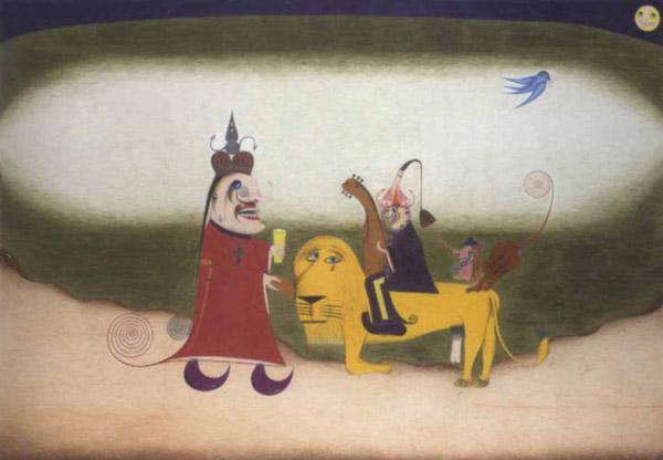 Der betende Lowe, oder Die geschandete Kraft, 1952 - Friedrich Schroder-Sonnenstern