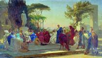 Horatius reads before Maecenas - Fyodor Bronnikov