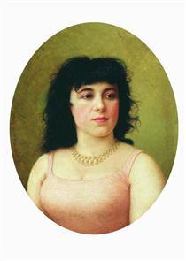 Portrait of an Italian ballerina Virginia Zucchi - Fyodor Bronnikov