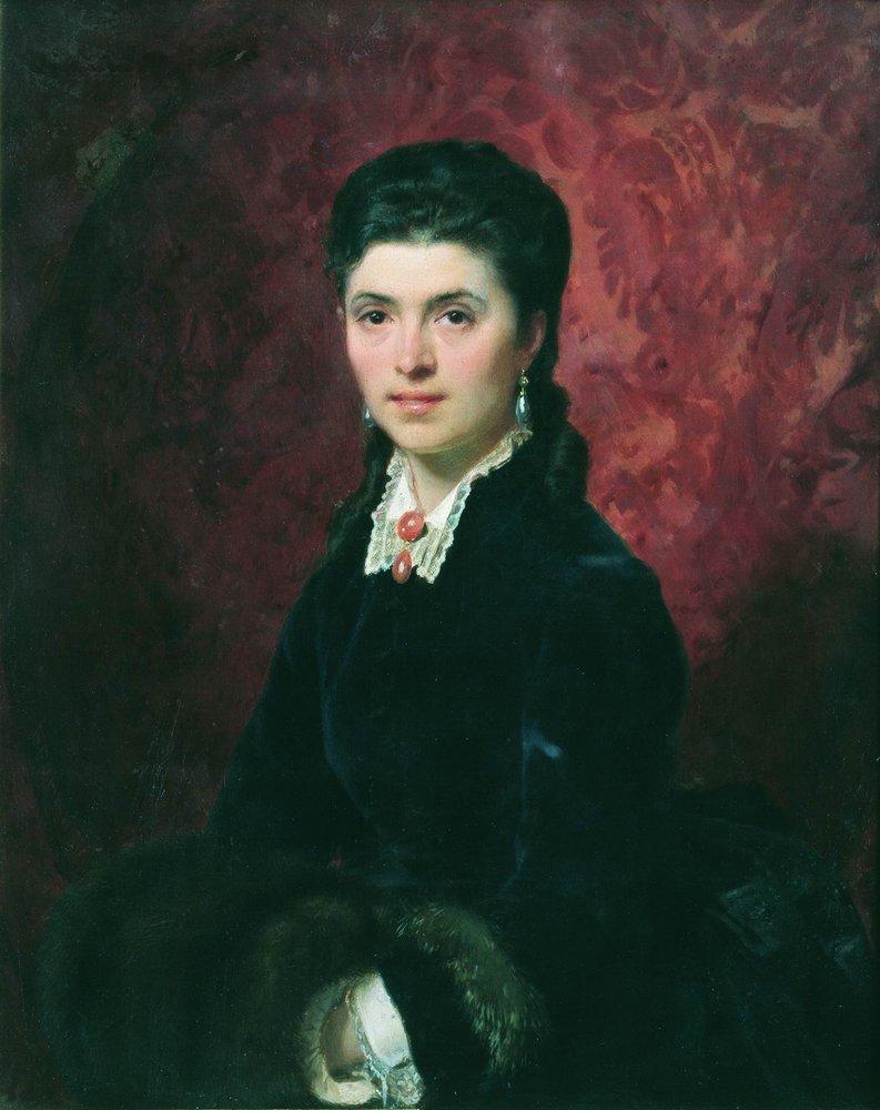 Portrait of Elena Grigoriyevna Tolstaya, 1873-1874