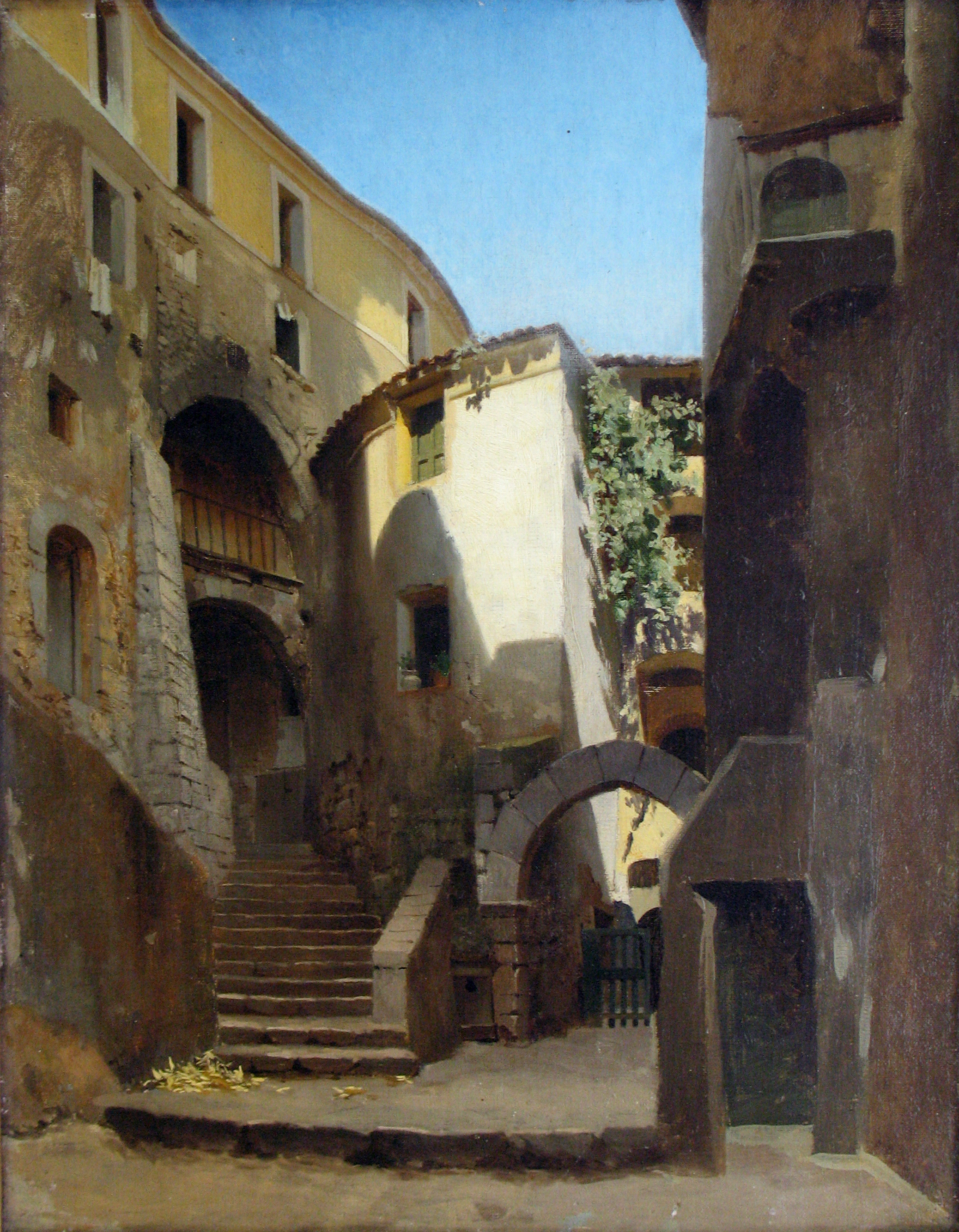 Street in Italy, 1850