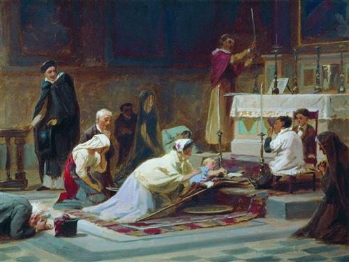 The Catholic Mass - Fyodor Bronnikov