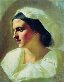 The lady in white - Fyodor Bronnikov