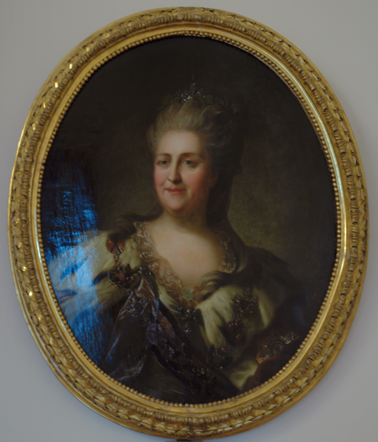Portrait of Catherine II. Repeat version of a portrait (after 1768)