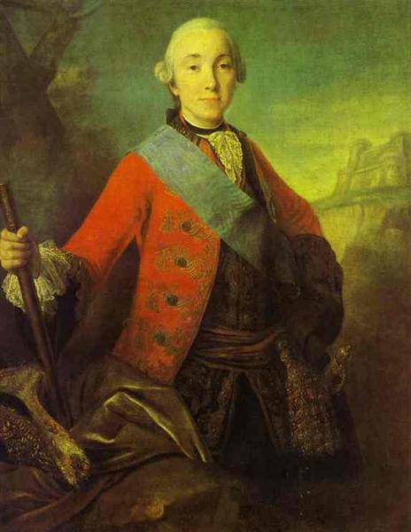 Portrait of Great Duke Peter Fedorovich, Later Emperor Peter III, 1758 - Fyodor Rokotov
