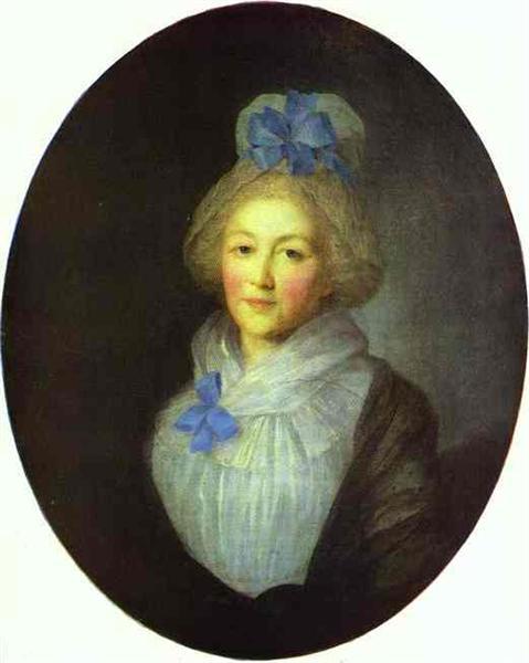 Portrait of Princess A.A.Dolgorukaya, c.1790 - Федір Рокотов