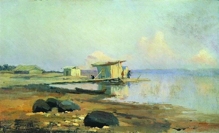 On the River. Calm, 1867 - Fyodor Vasilyev