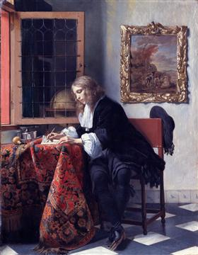 Man Writing a Letter - Gabriel Metsu