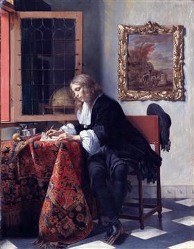 Man Writing a Letter - Gabriel Metsu