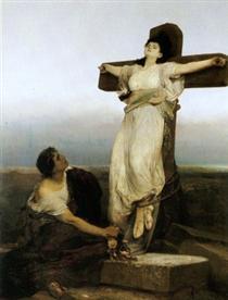Saint Julia (Crucified Martyress) - Gabriel von Max