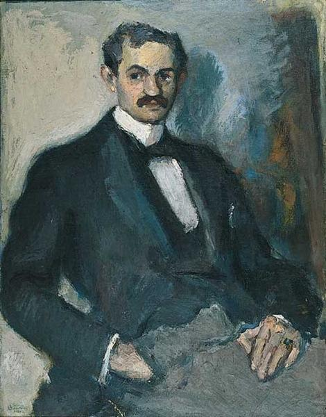 Portrait of a man, 1919 - George Bouzianis