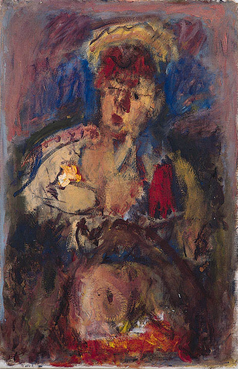 Woman with Flowers, 1950