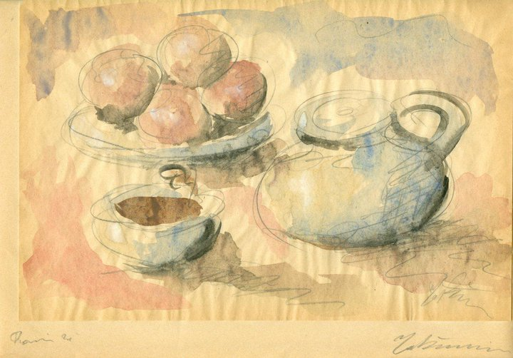 Still Life with Fruit and Pans, 1929