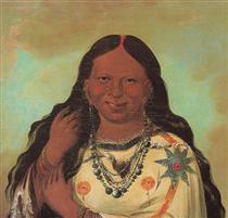 Kei-a-gis-gis, a woman of the Plains Ojibwa - Джордж Кетлін