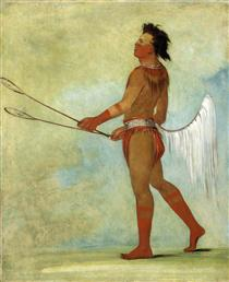 Tul-lock-chísh-ko, Drinks the Juice of the Stone, in Ball-player's Dress (Choctaw) - Джордж Кетлін