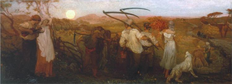 The Harvest Moon, 1872 - George Hemming Mason
