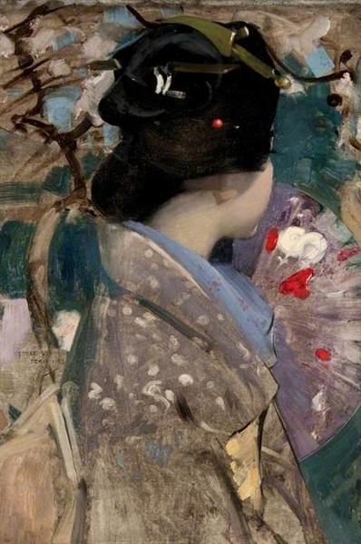 Japanese Lady with a Fan - George Henry