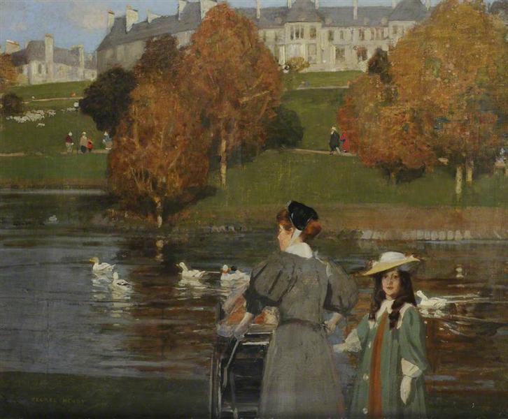 Nursemaid in Kelvingrove Park - George Henry
