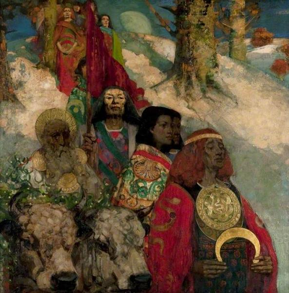 The Druids: Bringing in the Mistletoe (collaboration with Edward Atkinson Hornel) - George Henry