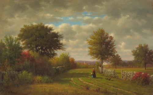 Going To Market, 1868 - George Inness