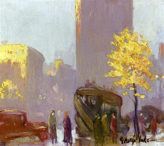 Fifth Avenue, New York, c.1920 - George Luks