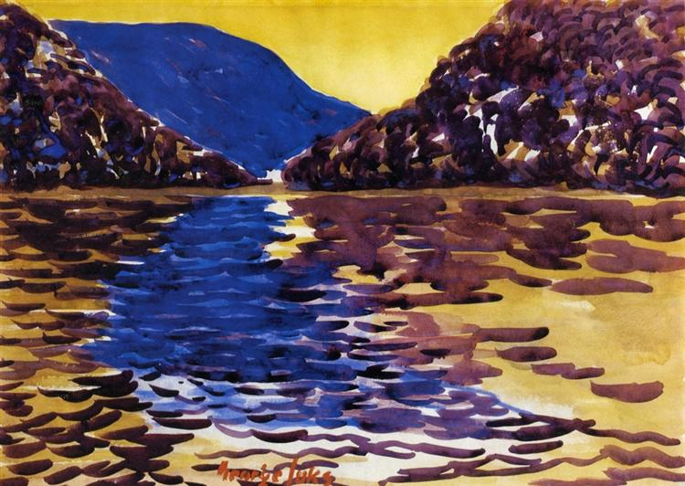 Lower Ausable Lake, Adirondacks - George Luks
