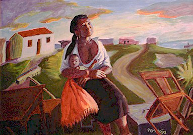 Eviction: Mother and Child, 1992 - George Pemba