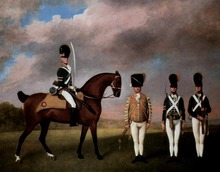 Soldiers of the 10th Dragoon Regiment, 1793 - George Stubbs