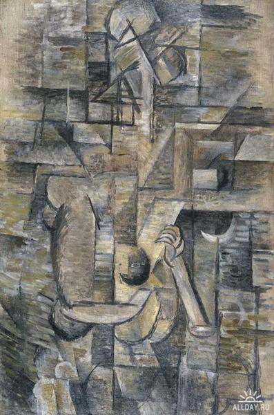 Woman with a Mandolin, c.1910 - Georges Braque