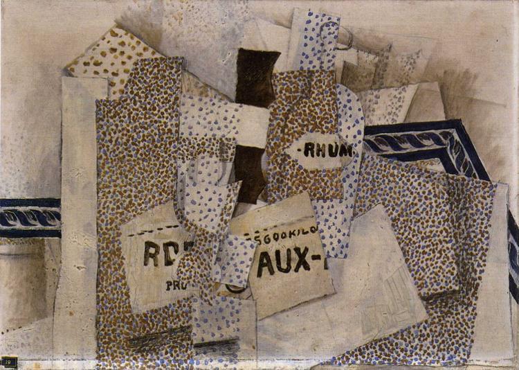 Bottle of Rum, 1914 - Georges Braque