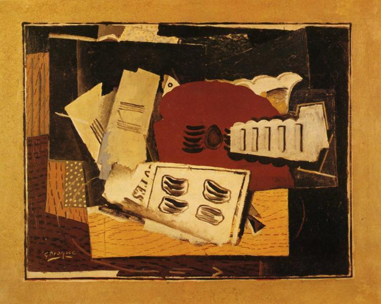 Guitar and Sheet Music, 1919 - Georges Braque