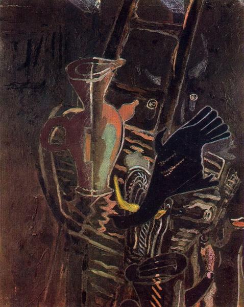 Still life with Stairs, 1943 - Georges Braque