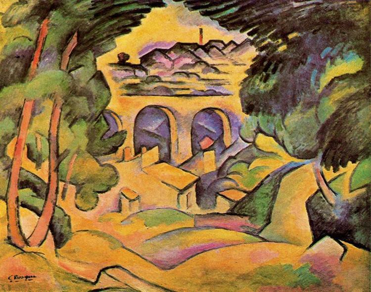 Виадук в Эстаке, c.1908 - Жорж Брак