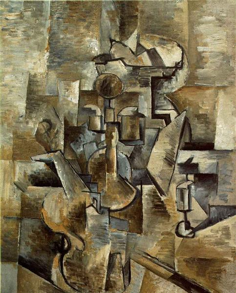 Violin and candlestick - Braque Georges