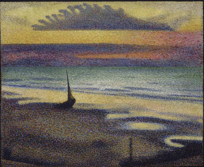 Beach at Heist, c.1891 - Georges Lemmen
