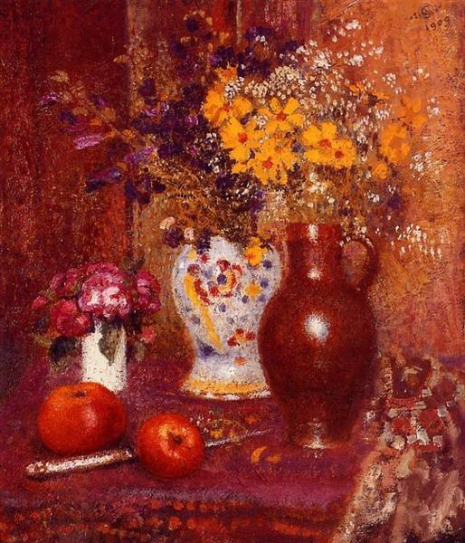 Flowers and Apples - Georges Lemmen