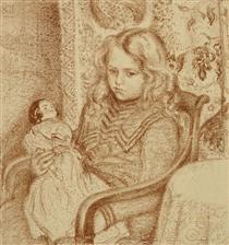 Girl with Doll - Жорж Леммен